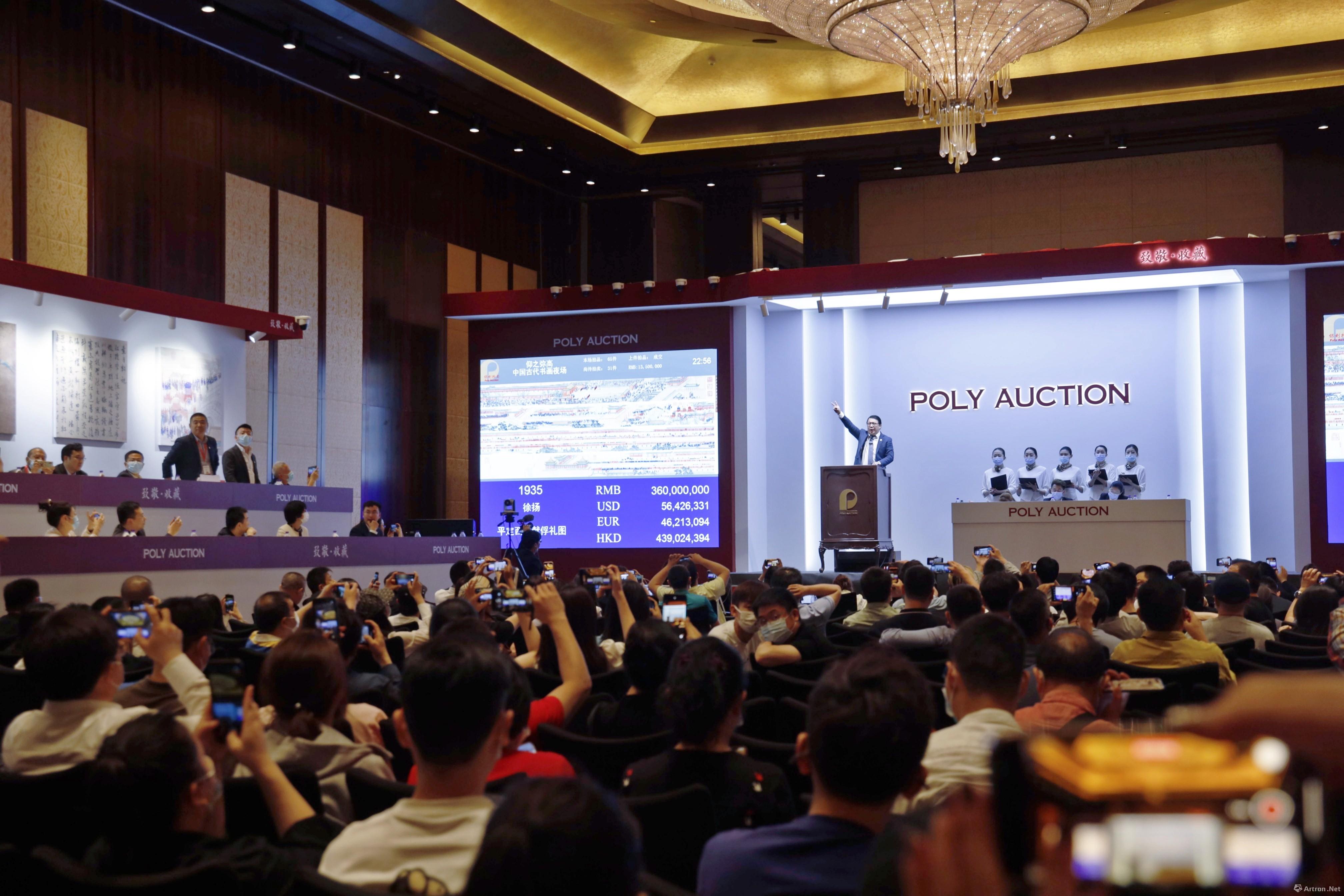 4.14亿元徐扬巨制,7个纪录,北京保利古代书画夜场9.07亿元强势收槌